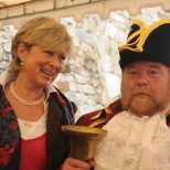 With Alan Jewell, Redruth town crier, during 2008 visit to Real del Monte.c