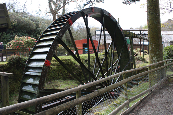 Wheal Martyn water wheel
